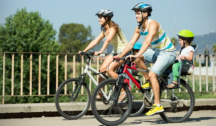 30-45 minutes of cycling can boost metabolism.