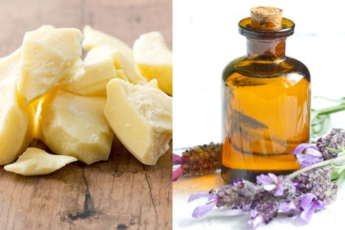 Cocoa butter and lavender oil add sheen to hair.