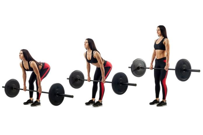 barbell deadlift for glutes
