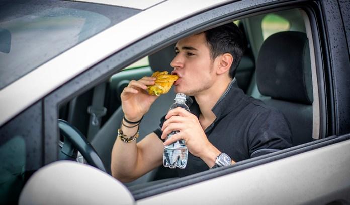 Eating slowly increases water intake