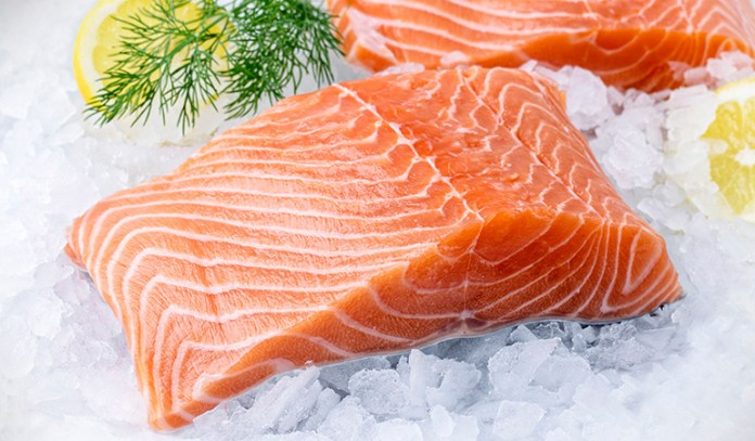 Salmon contains a ton of protein and unsaturated fats