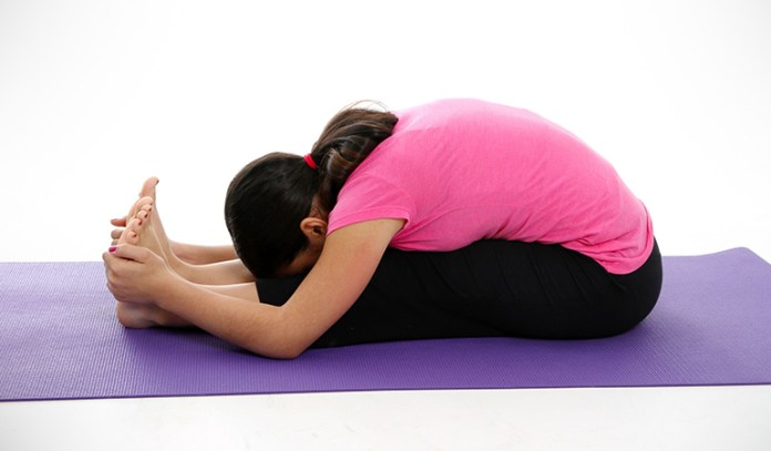 Seated Forward Bend Pose Can Relieve Stress And Maintain Hormonal Balance