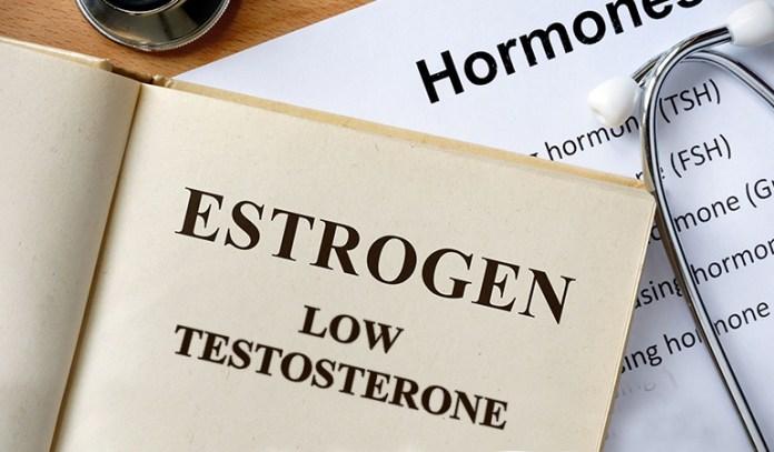 Estrogen and testosterone determine fat accumulation.