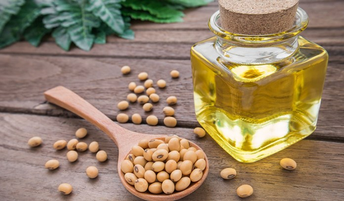 Soy bean oil promotes carotenoid absorption.