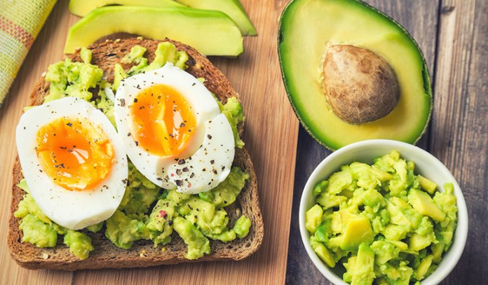 An avocado-egg toast is a healthy and nutritious breakfast