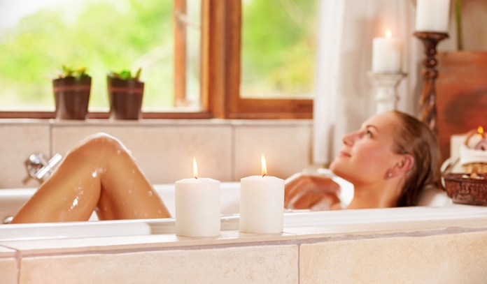 Relax and rejuvenate with a warm bath