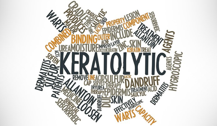 Keratolytic products help remove keratin, which causes the bumps on the skin