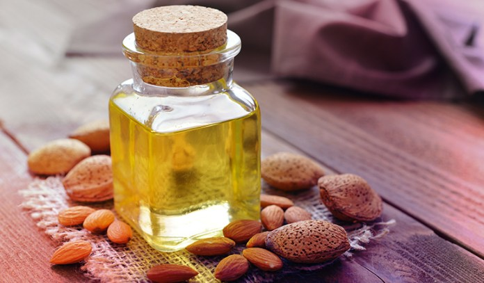 Sweet almond oil is very moisturizing for the eye area