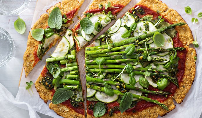Cauliflower can be used as a pizza crust.