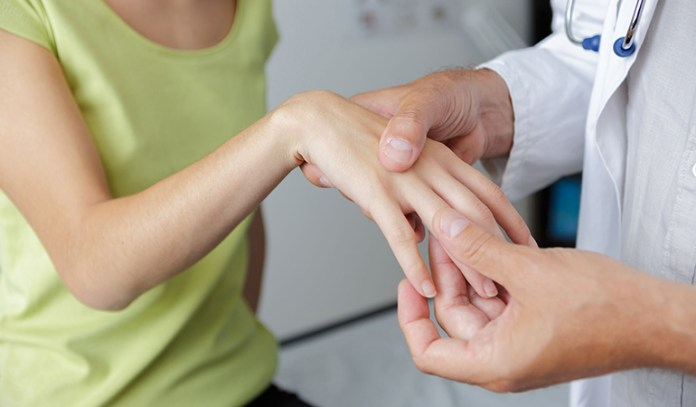 Constant stress and strain to the finger tendons causes trigger finger