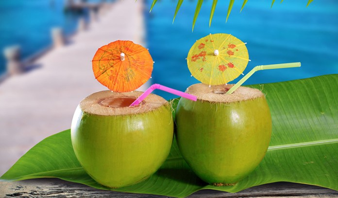 Drink coconut water instead of alcoholic beverages to stay hydrated and healthy