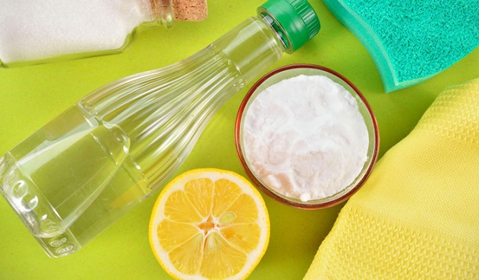 You can make your own cleaning solutions at home with cheap pantry staples.