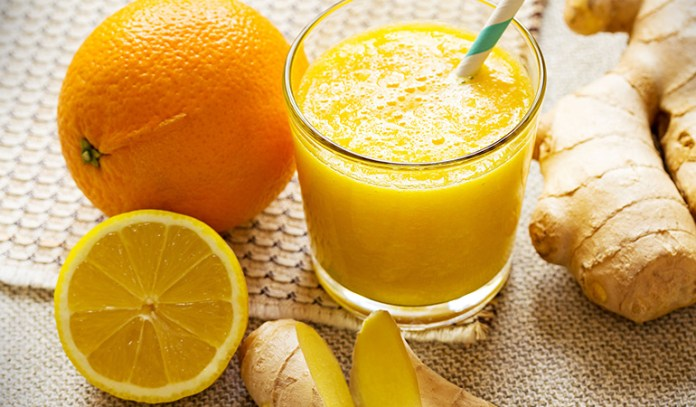 Ginger and orange drink for detox