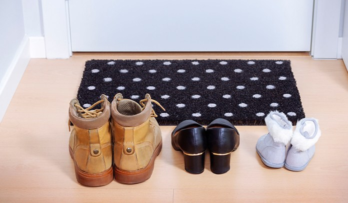 Leave your shoes outside the door to prevent bringing in toxins and pollutants into your house.