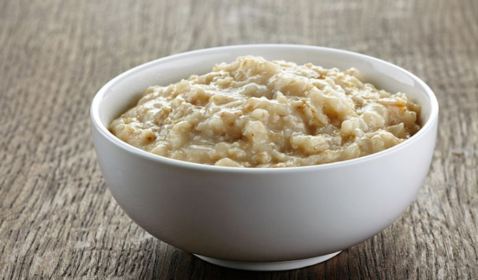 Add coconut oil to oatmeal