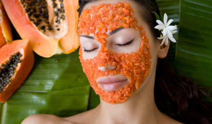 Papaya is great for the skin rich in vitamin C and A