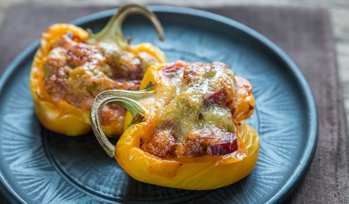 Pepper bowls to hold chili, soup, or cauliflower rice