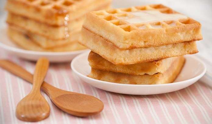 Waffles are light and a tasty snack