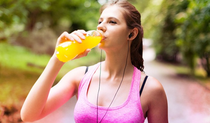 Sports and energy drinks are often loaded with sugar and caffeine