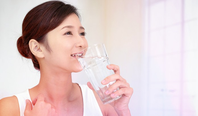 Drink plenty of water for smooth and glowing skin