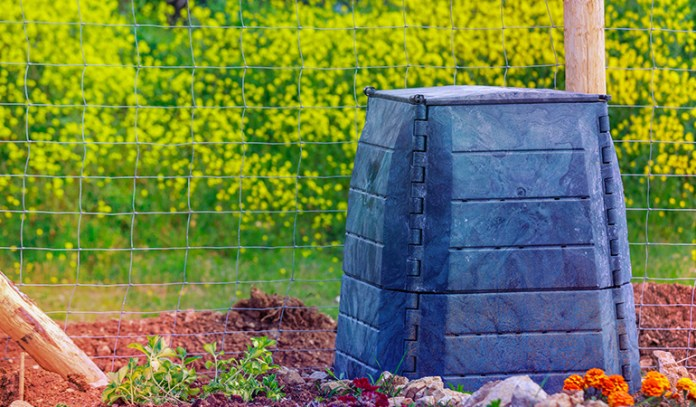 Composting food waste is a good way to fertilize the soil