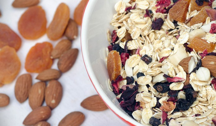 Add texture to your dish by using nuts and seeds.
