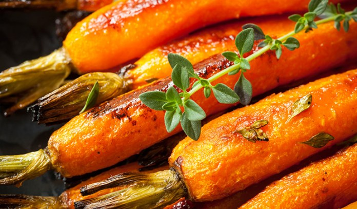 Roasting carrots brings out the rich sweetness