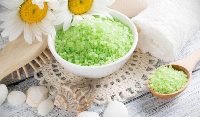 sea salt helps get rid of dead skin cell buildup