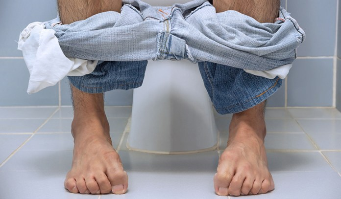 Swollen hemorrhoids cause symptoms like itchy, painful hard lumps and bloody discharge while pooping.
