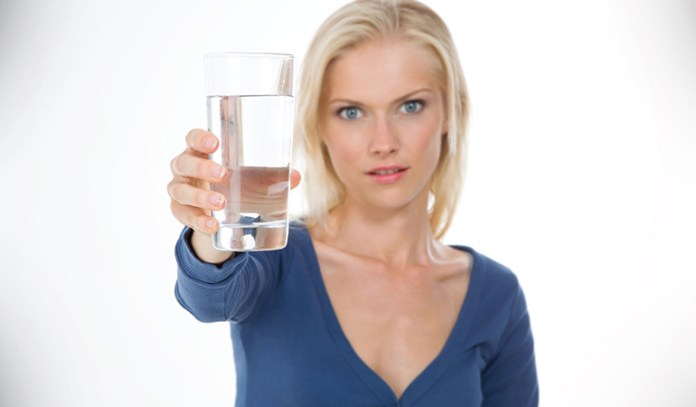 The saliva test in water can detect the presence of candida