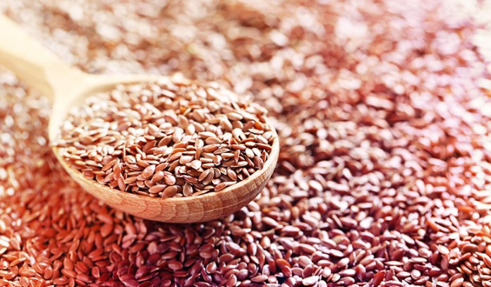 Flaxseeds are a good source of omega 3 fatty acids.