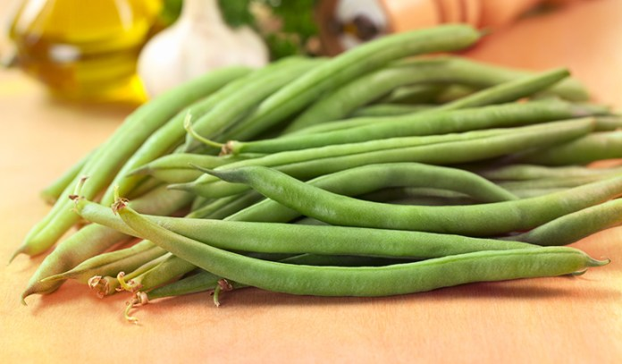 A cup of cooked green beans: 2 mcg, 5.7% of the DV