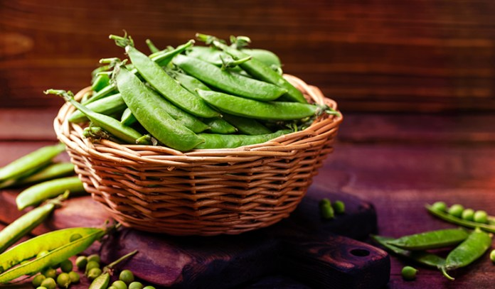 Peas have 1 mg of zinc.