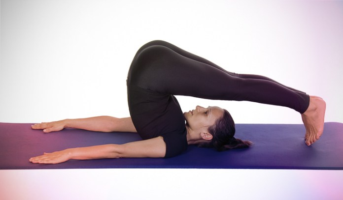 The plow pose eases stress which could cause constipation.