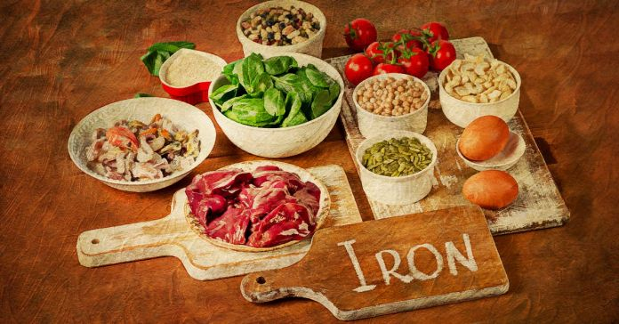 Foods high in iron.