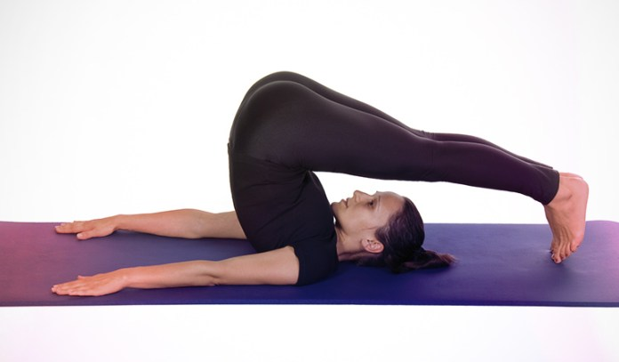 The half plow pose calms the nervous system.
