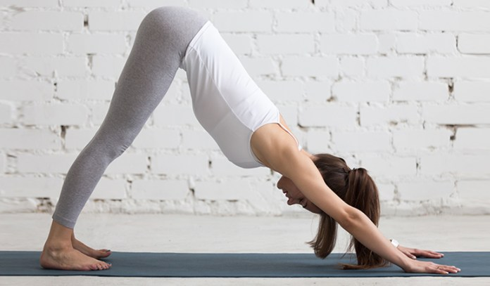 The downward facing dog increases blood circulation to your brain.