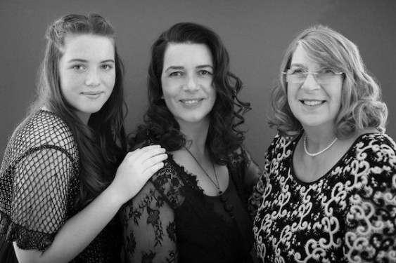 Andrea with her mother and daughter