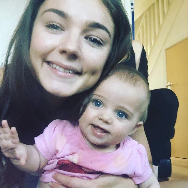 Jasmine and baby niece