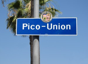 Street sign for Pico and Union