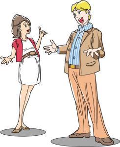 男女の会話の様子