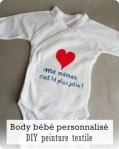 Offrir un body bébé unique-DIY