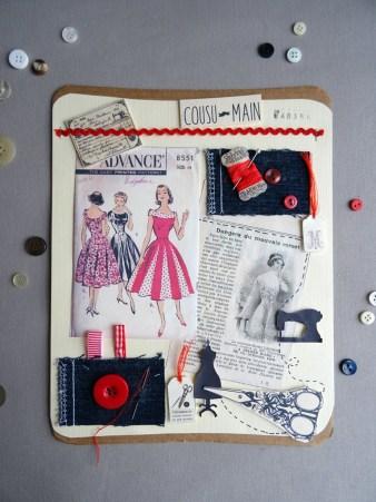 Planche tendance couture, façon scrapbooking