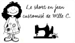 Short en jean customisé par Mlle C