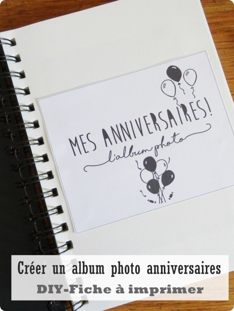 Album photo anniversaires