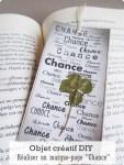 Objet créatif DIY - Marque-page Chance