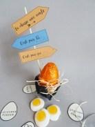 Déco de table de Pâques à imprimer