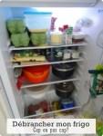 Débrancher mon frigo. Cap ou pas cap?