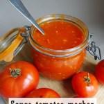 Sauce Tomates moches-Recette thermomix-Etiquettes