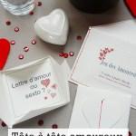 Tête à tête amoureux pour la Saint Valentin : cartes à jouer